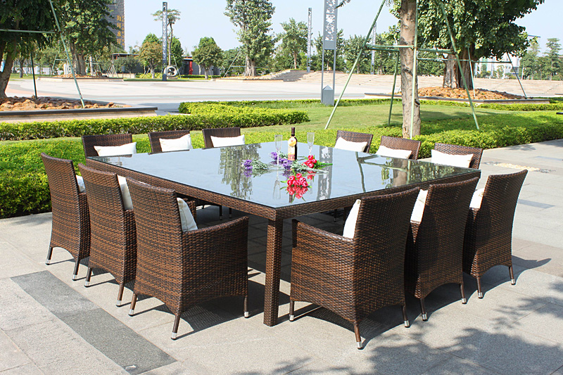 rattan furniture on patio