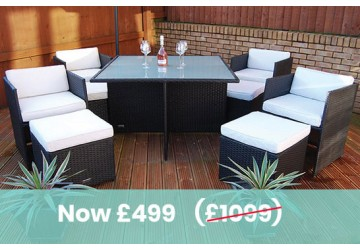 The Chelsea Rattan Cube Dining Set