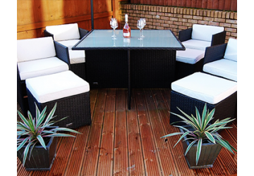 The Chelsea Rattan Cube Dining Set Replacement Glass top ( Please contact us for delivery cost for this item )