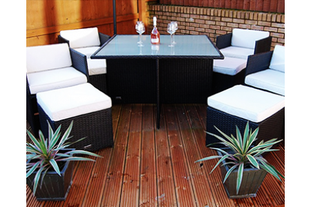 The Chelsea Rattan Cube Dining Set Replacement Glass top