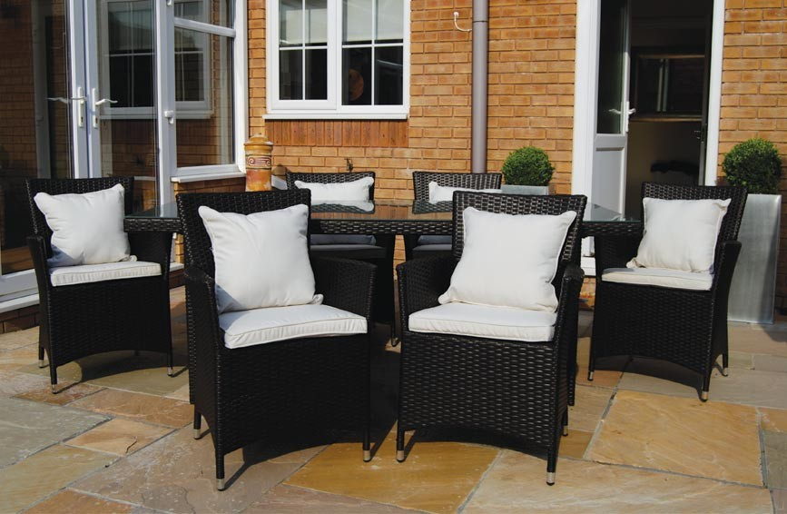 The Belgravia - 7 Piece Luxury Rattan Dining Set