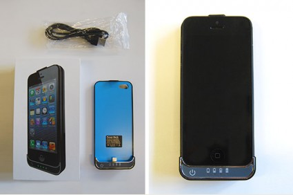 Battery power pack case for iphone 5 - black