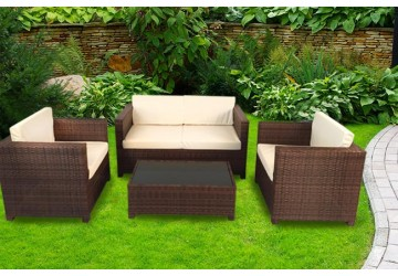The Camden Rattan Sofa Set