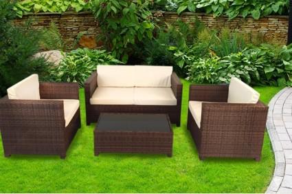 The Camden Rattan Sofa Set