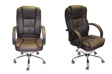 Executive Padded Office Chair - Brown