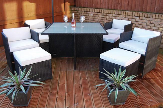 london rattan the chelsea rattan cube dining set. Black Bedroom Furniture Sets. Home Design Ideas