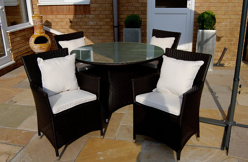 The Mayfair - 5 Piece Luxury Rattan Dining Set