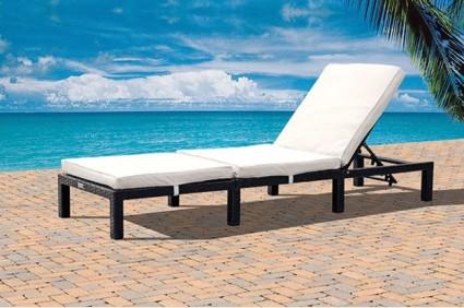 St Tropez Rattan Sun Lounger