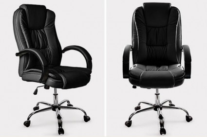 Executive Padded Office Chair Black