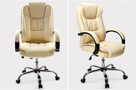 Executive Padded Office Chair - Cream